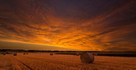 Abendrot als Fotomotiv in der Landschaftsfotografie.