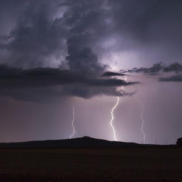 Blitze eines Gewitters Fotografieren in Deutschland