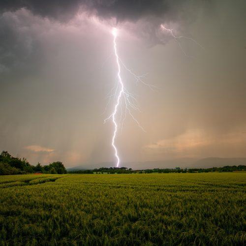 Nur wenige Blitze sind so geradlining wie dieses Exemplar.