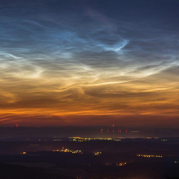 Leuchtende Nachtwolken in einem Fotokurs