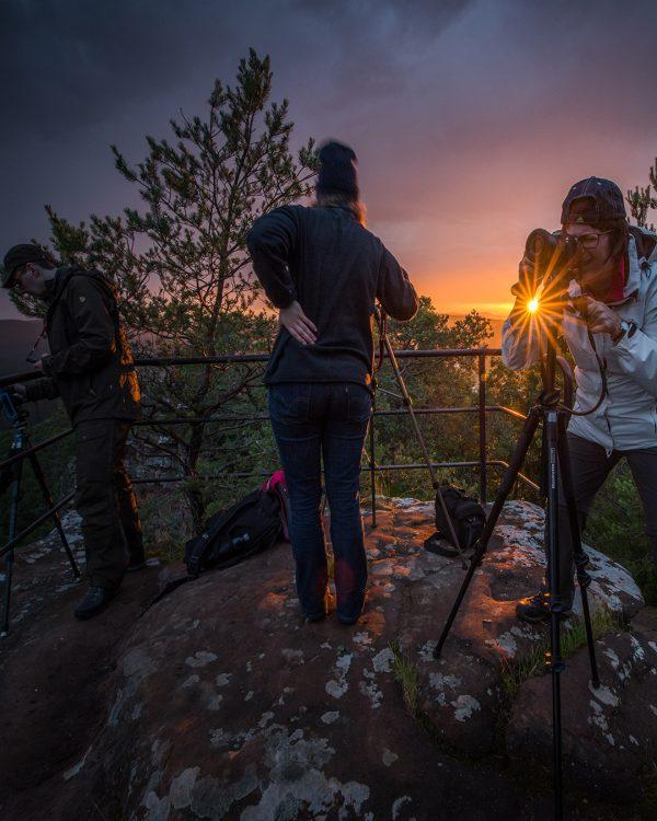 Fotokurs Gruppe im Pfälzerwald