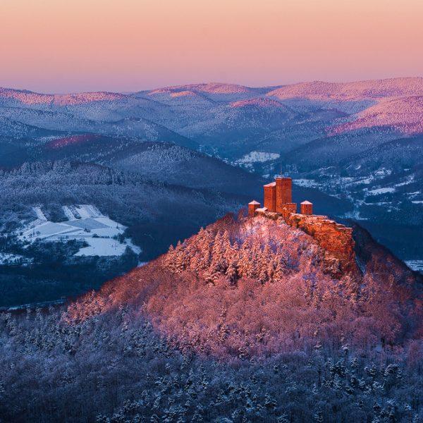 Burg Trifels im Schnee Photographiekurs