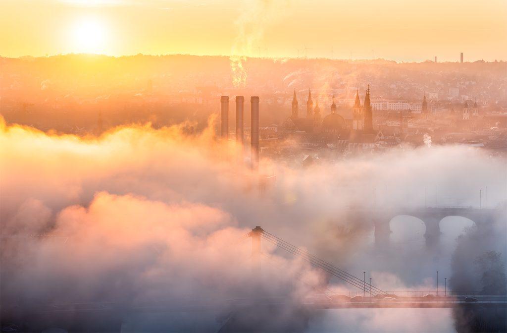 Nebel über Würzburg Landschaftsfotografie Wettervorhersage