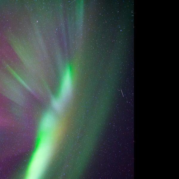 Polarlicht am Himmel über Senja.