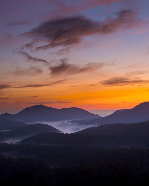 Sonnenuntergang Pfälzerwald Fotokurs