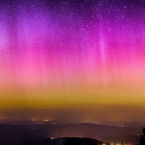 Polarlicht über Deutschland.