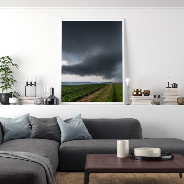 Eine wall cloud als Kunstdruck.